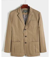 koyye chaqueta con cuello de solapa para hombre chaqueta elegante de oficina lisa