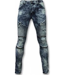 jeans true rise biker jeans - slim fit ripped jeans h paint drops -