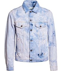 bleached arrow jean jacket