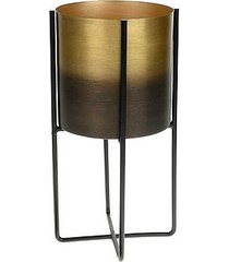 kwietnik metalowy osłonka na stojaku gold black