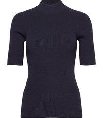 nubia ss pullover t-shirts & tops short-sleeved blå nümph
