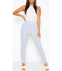 casual skinny broek met pastelzakjes, babyblauw