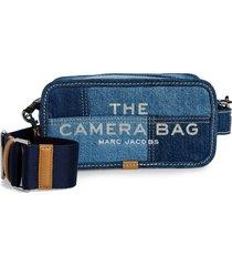 marc jacobs the camera bag denim crossbody bag - blue