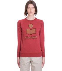 isabel marant étoile milly sweatshirt in bordeaux cotton