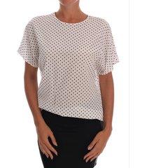 polka dotted silk t-shirt top