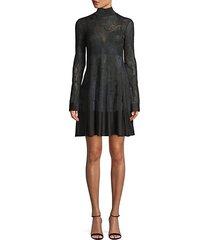 lace knitted mini dress