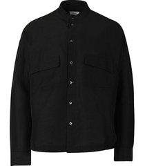 malta button down shirt black