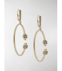 alexander mcqueen gold-tone crystal-embellished hoop earrings
