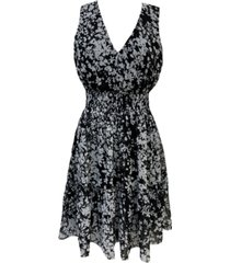 taylor sleeveless printed peasant dress
