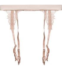 fleur of england dahlia suspender belt - pink