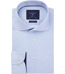 overhemd profuomo blauw motief originale slim fit