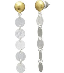 lush silver stiletto earrings