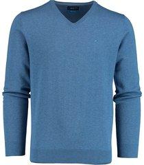 bos bright blue vince v-hals pullover blauw rf 21105vi01bo/262 used blue