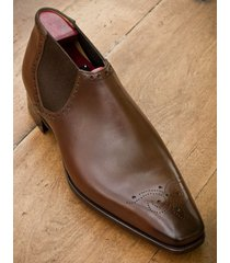 hanmade mens slip ons brogue dress leather shoes, men brown formal leather shoes