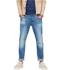 g-star 51002 b631 - 3301 straight jeans men denim light blue