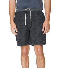 men's 7 diamonds core active abstract camo print shorts, size xx-large - black