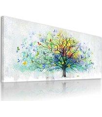 obraz na płotnie drzewo z motylami- 150x60cm