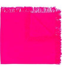 isabel marant tassel-trimmed scarf - pink