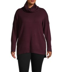 french connection women's plus babysoft cowlneck sweater - camel - size 2x (18-20)