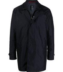 fay lightweight duffle-coat - blue