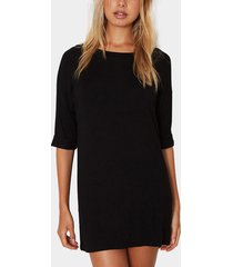 black fashion t-shirt mini dress