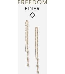 *freedom finer thread through earrings - clear