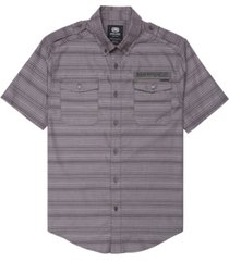 ecko unltd men's striped chambray woven shirt