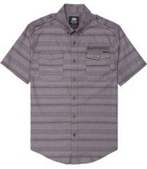 ecko unltd men's striped chambray woven shirt