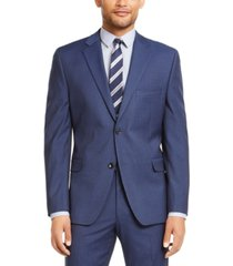 alfani men's red slim-fit performance stretch stripe suit separate jacket, created for macy's