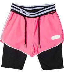 gcds mini color-block design shorts
