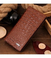 billetera, cartera larga de la manera de los hombres-marrón