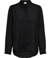 blusa jacqueline de yong grace negro - calce holgado