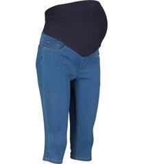 jeans capri prémaman (blu) - bpc bonprix collection
