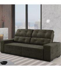 sofá 4 lugares retrátil e reclinável living camurça - viero móveis