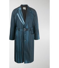 a-cold-wall* grid-print trench coat