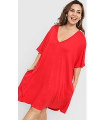 vestido rojo vindaloo redondo y v