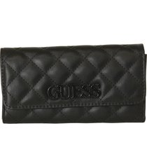 billetera elliana slg multi clutch vg730266 para mujer guess - negro
