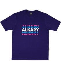 camiseta alkary logotipia roxo - kanui