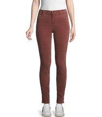maria high-rise velvet skinny jeans