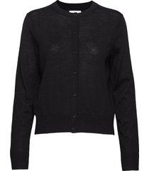kleo cardigan 11265 stickad tröja cardigan svart samsøe samsøe