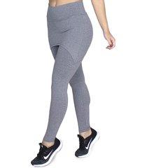 calça legging saia tapa bumbum bravaa modas 070 cinza