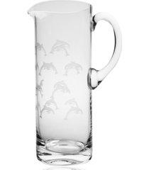 rolf glass school of dolphin pitcher 35oz