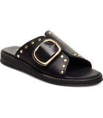 angela shoes summer shoes flat sandals svart pavement