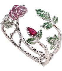 rubellite rose bracelet