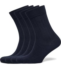 timber 4-pack socks - block striped underwear socks regular socks blå knowledge cotton apparel