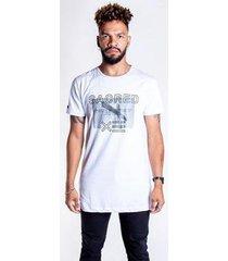 t-shirt thesaint branca estampa cruz - gg - unissex