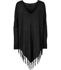 poncho (nero) - bodyflirt boutique