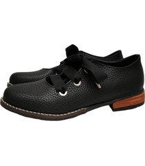 zapato negro miye collazo rayito de luz