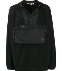 mcq alexander mcqueen offspring pouch pocket hoodie - black