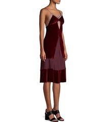 sigmonds silk & velvet slip dress